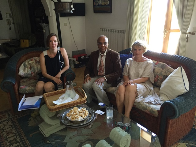 ICPE Project Manager Ms Sara Arco and DG Dr Anand Asthana with Ms Alenka Prvinsek Persoglio