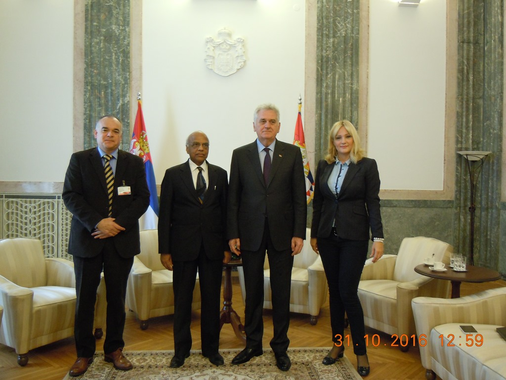 Representatives of ICPE with the President of Republic of Serbia and his advisor