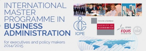 International Master programme in Business Administration 2014/15 - Applications are open