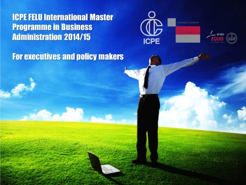 International Master Programme in Business Administration Brochure 2014/15